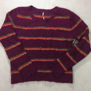 Free People Nubby Striped Sweater